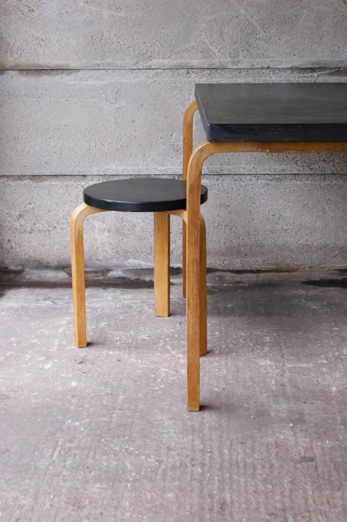 Alvar Aalto Finmar Table And Stool Original Set