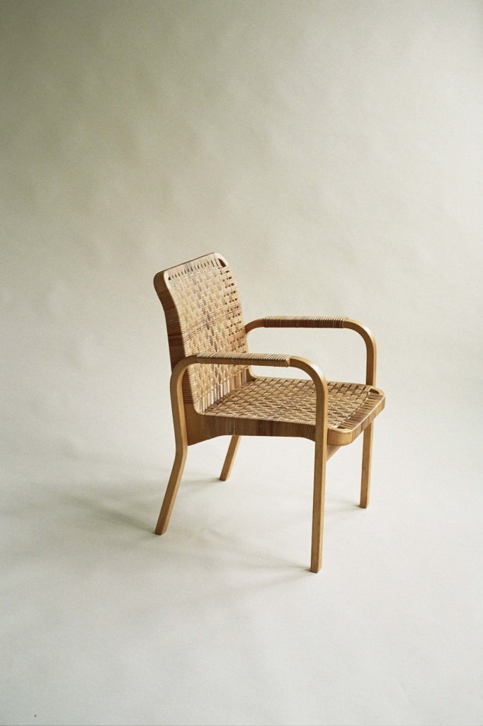 Alvar Aalto Chair 45 With Caned Seat And Back