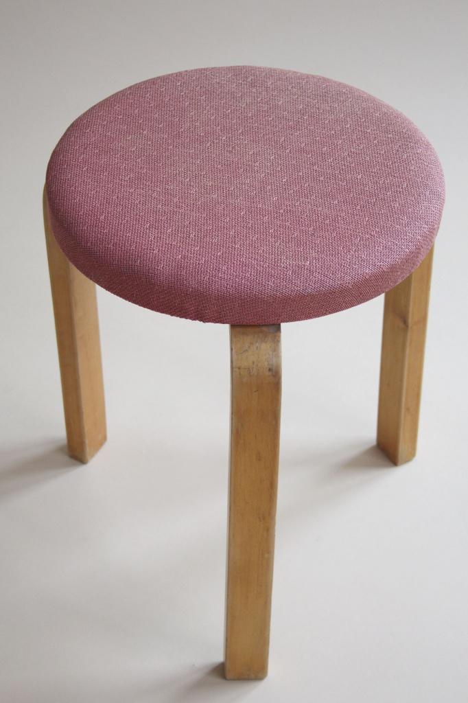 2x Upholstered Stool 60 Alvar Aalto Artek 1940s 1934